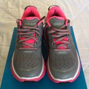 NIB Hoka Clifton 2 Shoes Grey Pink Size 6.5